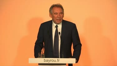 François Bayrou, lors de sa conférence de presse le 21 juin 2017.
