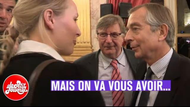 """Marion Maréchal-Le Pen a menacé, sous l'œil d'une caméra du """"Petit Journal"""", le patron de Public Sénat."""