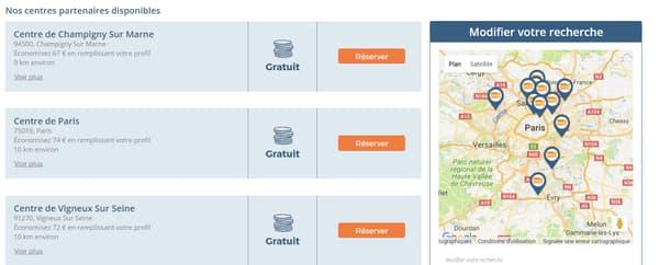 En région parisienne par exemple, on compte 11 possibilités.Pour notre test, le centre partenaire le plus proche se situait à 20 km de mon domicile, soit un trajet de 30 minutes en conditions normales de circulation.