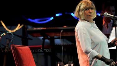 Marianne Faithfull en juillet 2016 au festival de blues de Cognac.