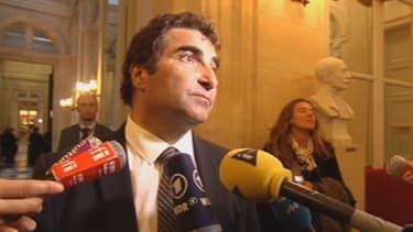 Le député UMP Christian Jacob réagissant à l'adoption du plan d'économies par les députés