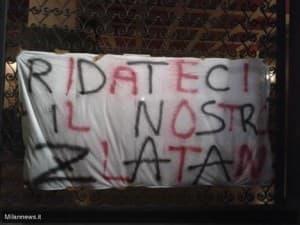 La banderole des Milanais