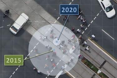 Comparaison entre les coordonnées GPS de 2015 avec celles de 2020 en Australie.