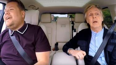 "Paul McCartney dans ""Carpool Karaoke"" avec James Corden sur CBS."