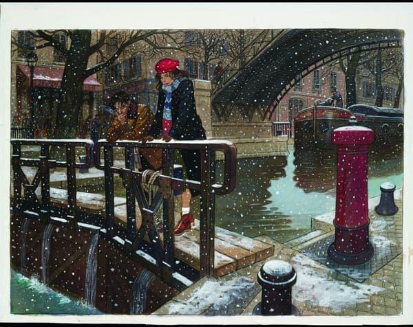 Paris sous la neige, une illustration de Jean-Pierre Gibrat