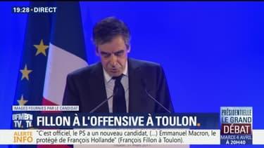 """François Fillon: """"Emmanuel Hollande (sic), c'est le prince de l'ambiguïté"""""""