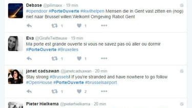 Les internautes belges et français proposent leur aide avec le hastag #PorteOuverte