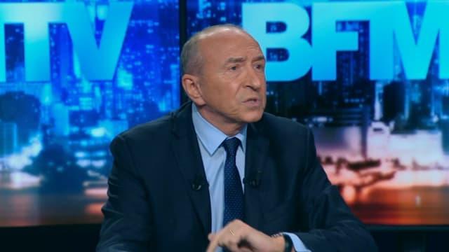 Gérard Collomb sur le plateau de BFMTV.