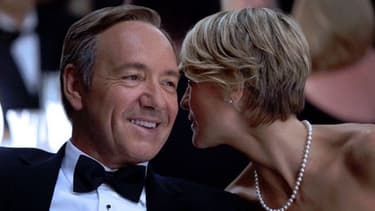 """Kevin Spacey et Robin Wright, héros de """"House of Cards""""."""