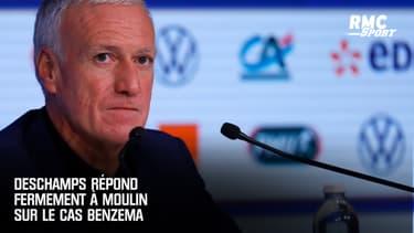 """""""Il devrait faire acte de candidature au poste de sélectionneur"""" : Deschamps répond fermement à Moulin sur Benzema"""