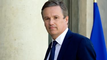 Nicolas Dupont-Aignan, en mai 2014, à l'Elysée.
