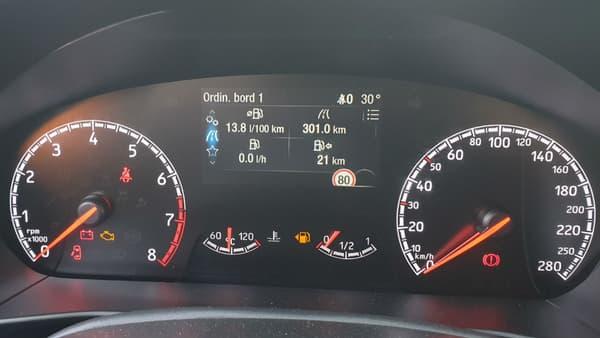 Le bilan consommation de notre essai: 14 litres aux 100, ce qui reste assez logique quand on adopte une conduite sportive.