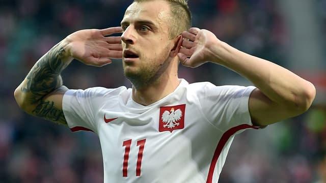 Kamil Grosicki, auteur d'un doublé avec la Pologne contre la Finlande
