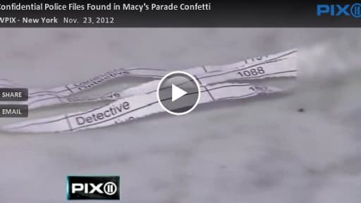 Des rubans de papier contenant des informations confidentielles