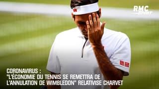 """Coronavirus : """"L'économie du tennis se remettra de l'annulation de Wimbledon"""" relativise Charvet"""