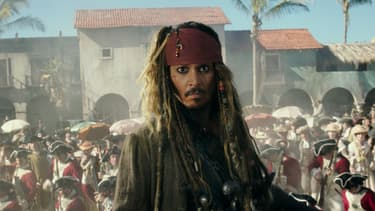 "Johnny Depp dans le cinquième volet de ""Pirates des Caraïbes""."