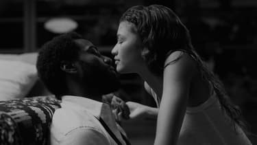 "John David Washington et Zendaya dans ""Malcolm & Marie"""
