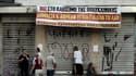 Un hôpital fermé à Athènes, en Grèce, le 4 septembre 2013.