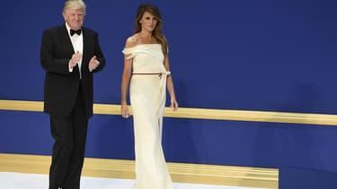 Melania et Donald Trump le 20 janvier 2017 à Washington