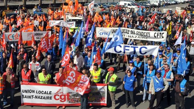 Une manifestation en 2012 à Saint-Nazaire. (photo d'illustration)
