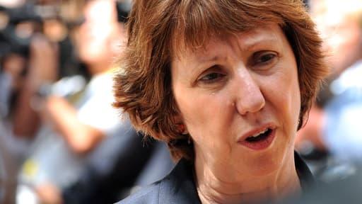 La chef de la diplomatie de l'UE, Catherine Ashton à la conférence de presse.