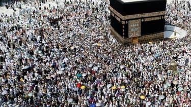 Des pèlerins musulmans à la Grande Mosquée de La Mecque, le 14 septembre 2016, en Arabie saoudite