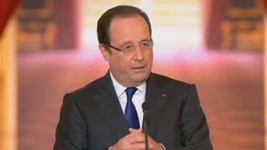 François Hollande lors de sa conférence de presse du 16 mai 2013.