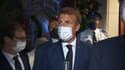 Emmanuel Macron à Bormes-les-Mimosas ce mardi soir.