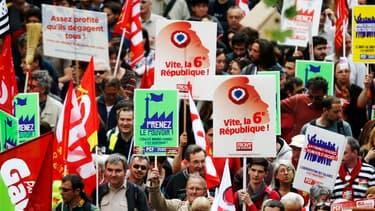 """Le Front de gauche a appelé à une 6eme République et au """"retour de la vraie gauche""""."""