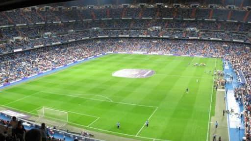 Santiago Bernabeu, le stade du Real Madrid.