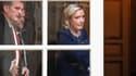 Marine Le Pen sortant de l'Hôtel Matignon lundi.
