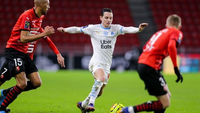 Florian Thauvin lors de Rennes - Marseille (2-1)