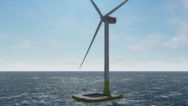 Grâce à leur fondation flottante en béton, ces éoliennes offshore peuvent être ancrées entre 50 et 300 mètres de fond ce qui permet de les placer loin des côtes, au-delà de 15 km souvent.
