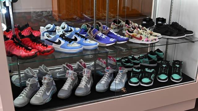 Une collection de sneakers mise en vente aux enchères par Sotheby's à New York en juillet 2019