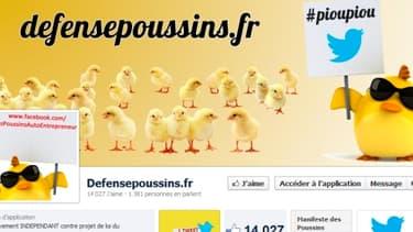 La page Facebook du mouvement des poussins, qui promet d'amplifier la lutte si une limitation dans le temps de leur statut est actée.