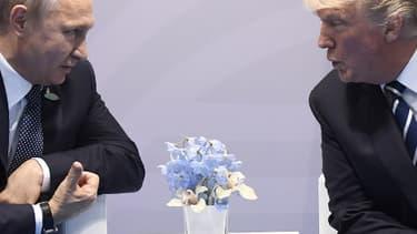 Donald Trump et Vladimir Poutine, le 7 juillet 2017
