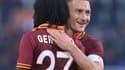 Gervinho et Francesco Totti