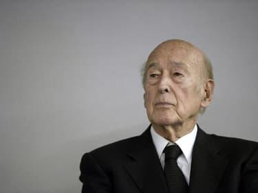 L'ancien président Valéry Giscard d'Estaing le 14 octobre 2014 au Bourget, près de Paris
