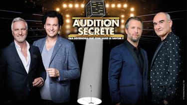 David Ginola, Eric Antoine, Julien Creuzard et Pascal Nègre, dans Audition secrète sur M6.