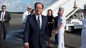 François Hollande, le 13 décembre, à Cayenne.