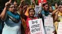 Des activistes indiennes manifestent après le viol d'une enfant, le 13 octobre 2015