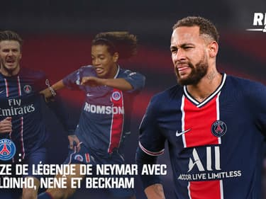 PSG : Le XI de légende de Neymar avec Ronaldinho, Nenê et Beckham