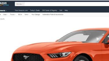 """Ne manque que le bouton """"Achat"""" sur Amazon Vehicles, qui se présente comme un comparateur en ligne et une communauté de consommateurs."""