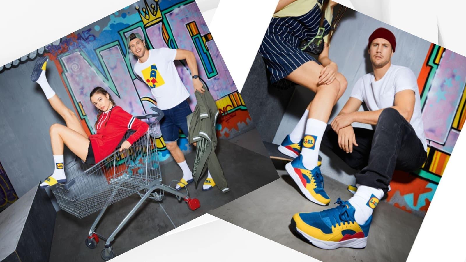 Lidl ha sacado unas zapatillas con sus colores corporativos