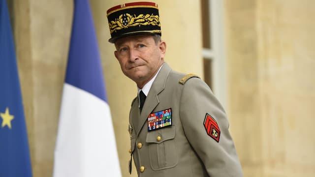 Le général Pierre de Villiers à son arrivée au Palais de l'Elysée le 27 juillet 2017