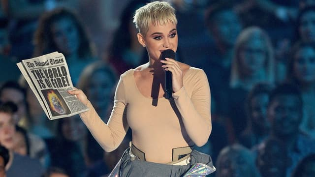 Katy Perry le 27 août 2017 aux MTV VMAS