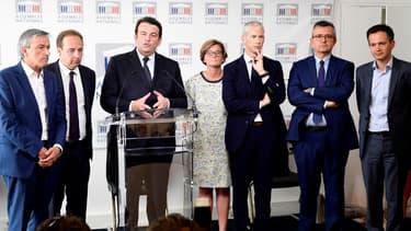 Thierry Solère et Jean-Christophe Lagarde annonce la création d'un nouveau groupe parlementaire, le 21 juin 2017