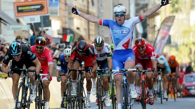 Arnaud Démare a déjà levé les bras cette saison en Italie, à Milan-San Remo.