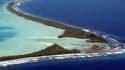 L'atoll de Funafuti dans le sud de l'Océan pacifique, ici en 2004. Cet archipel où vivent 11.500 personnes pourrait être une des premières victimes de la montée des eaux.