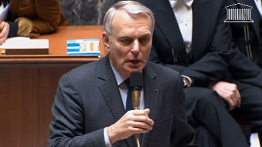Le Premier ministre Jean-Marc Ayrault à l'Assemblée lors des questions au gouvernement